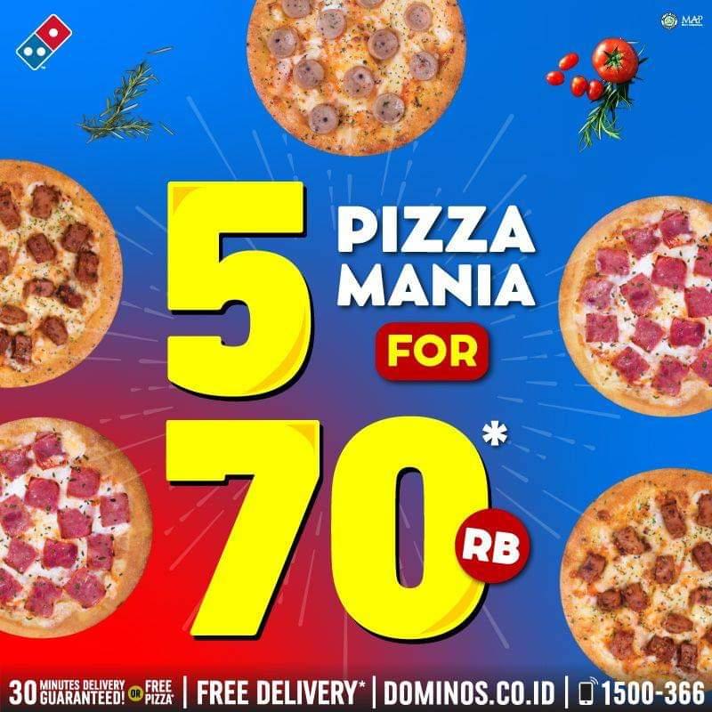 5 Pizza Mania Dominos Pizza
