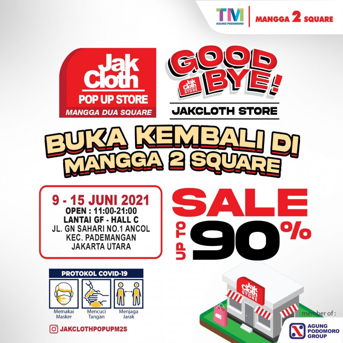 """JakCloth 2021 Pop Up Store : GOODBYE JAKCLOTH STORE """"EVERYTHING MUST GO"""" – DISC 90%"""